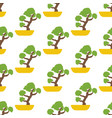bonsai tree seamless pattern vector image vector image
