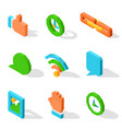 bright isolated icons used in social media set vector image vector image