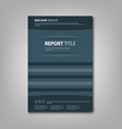 Brochures book or flyer with abstract blue pockets vector image vector image
