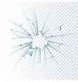 Broken Frosted Glass Realistic Icon vector image vector image