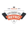 business retro isolated icon corporate identity vector image