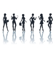 business woman silhouettes set vector image
