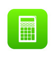 calculator icon green vector image vector image