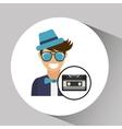cassette vintage man style hipster vector image