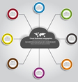 Cloud Business Infographics vector image