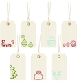 collection merry christmas paper price tags vector image