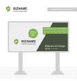company bill board design with sheild logo vector image