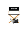 director chair with movie icon vector image
