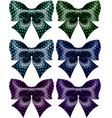 Festive black polka dot bows vector image vector image