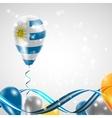 Flag of Uruguay on balloon vector image vector image
