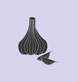 Garlic vegetable icon vector image vector image