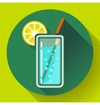 glass of water with lemon icon flat 20 designe vector image vector image