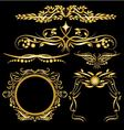 Gold Color Vintage Decorations Elements Flourishes vector image vector image