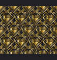 gold pattern with heart in art deco style vector image vector image