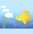 goldfish in the sea vector image