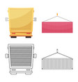 goods and cargo symbol vector image