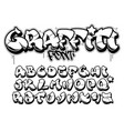 graffiti style font isolated black outline vector image vector image