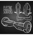 Graphic collection of electric scooters vector image