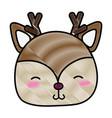 Grated shy deer head wild animal