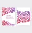 Greeting Card Ornamental Set vector image