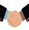 Handshake of business people as a result of vector image