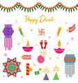happy diwali elements hindu festival vector image vector image