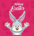 happy easter card cartoon vector image vector image