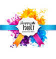 Happy holi blur abstract banner vector image vector image