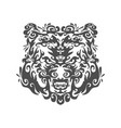 head a bear in an ornament vector image vector image