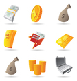 Icons for money vector image