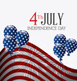 independence day card design vector image vector image