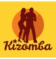 Kizomba poster for the party Dancing couple vector image vector image