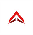 letter a logo arrow up vector image vector image