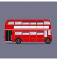 London buses colored silhouette vector image