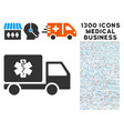 medical delivery icon with 1300 medical business vector image vector image