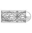 medieval enrichment torus moulding journal covers vector image vector image