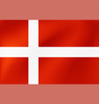 national flag denmark for sports competition vector image vector image