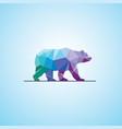 polygonal abstract bear logo vector image