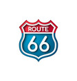 road sign route 66 paper cut style vector image