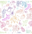 seamless pattern with berries on a white vector image vector image