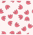 seamless pattern with kawaii flowers vector image vector image