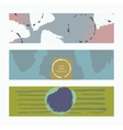 Set of horizontal banners handdrawn decorated vector image vector image