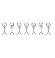 set of the simple persons with different emotions vector image