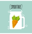 smoothie juice icon vector image vector image