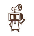 television robot vector image vector image