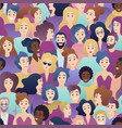 trendy gradient style people seamless vector image vector image