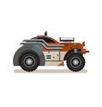 Tuned Retro Car in Flat Style vector image