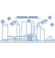 usa tennessee memphis winter city skyline vector image vector image