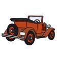 Vintage red cabriolet vector image vector image