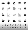 Virtual organization icons on white background vector image